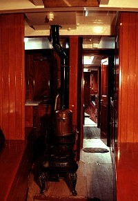 Interior Fittings in Victorian yacht SV 'Marigold'